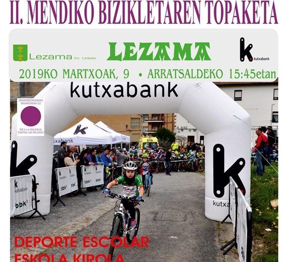 II Mendiko Bizikletaren Topaketa en Lezama